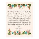 Arte cristiano de la cita - 37:7 del salmo - 9 postal