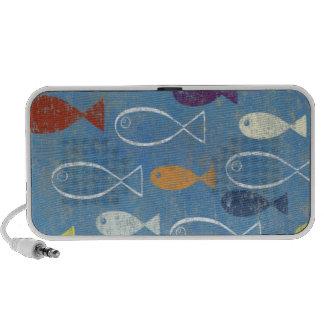 Arte cristiano de los pescados iPod altavoces
