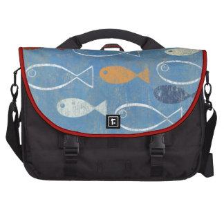 Arte cristiano de los pescados bolsas de portatil