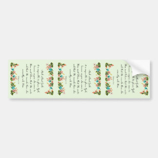 Arte cristiano fresco - 11:6 de los hebreos pegatina de parachoque