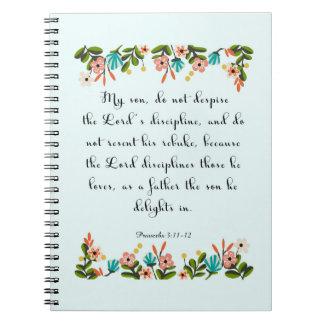 Arte cristiano fresco - 3:11 de los proverbios - 1 libretas