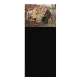 Arte cristiano la lección del catecismo invitación 10,1 x 23,5 cm