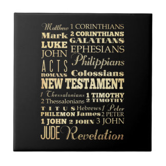 Arte cristiano - libros del nuevo testamento tejas  ceramicas