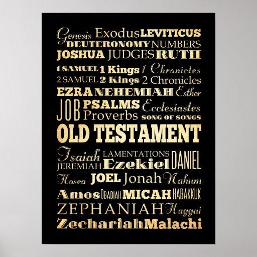 Arte cristiano - libros del viejo testamento póster
