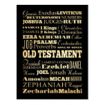 Arte cristiano - libros del viejo testamento tarjetas postales