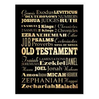 Arte cristiano - libros del viejo testamento tarjeta postal