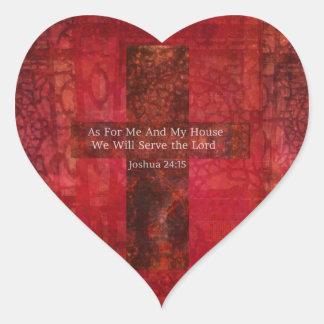 Arte cristiano moderno de la cadera del 24:15 de pegatinas corazon