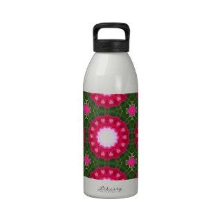 Arte crudo natural de la flor del guisante de olor botellas de beber