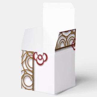 Arte cruzado del símbolo caja para regalo de boda
