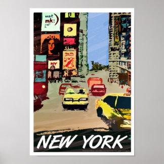 Arte cuadrado/impresión del poster de New York Tim