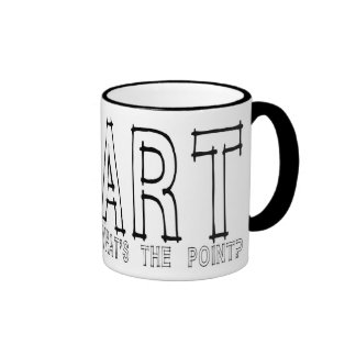 ¿Arte… cuál es el punto? Taza De Dos Colores