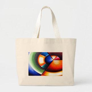 Arte cubista abstracto original bolsa tela grande