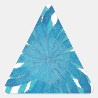 Arte curativo #2 de Chakra de la garganta Calcomanías De Trianguloes Personalizadas
