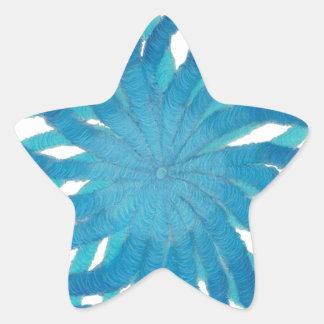 Arte curativo #2 de Chakra de la garganta Pegatinas Forma De Estrellaes Personalizadas