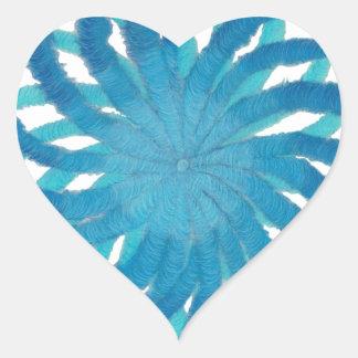 Arte curativo #2 de Chakra de la garganta Pegatina En Forma De Corazón