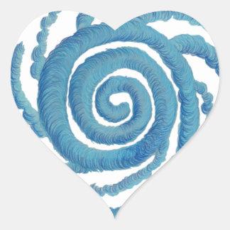 Arte curativo #3 de Chakra de la garganta Pegatina De Corazón Personalizadas