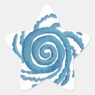 Arte curativo #3 de Chakra de la garganta Pegatina Forma De Estrella