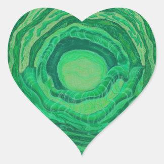 Arte curativo de Chakra del corazón - #2 Pegatina En Forma De Corazón