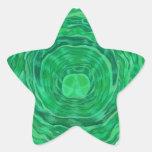 Arte curativo de Chakra del corazón - #3 Calcomanía Forma De Estrellae