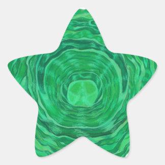 Arte curativo de Chakra del corazón - 3 Calcomanía Forma De Estrellae