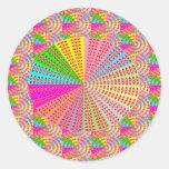 Arte curativo de la chispa del círculo de Chakra Etiquetas Redondas