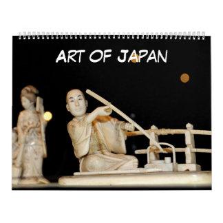 arte de 12 meses de Japón Calendario