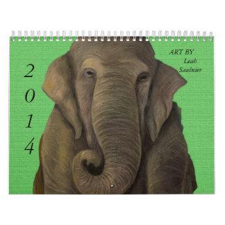Arte de 2014 calendarios de Leah Saulnier