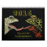 Arte de 2016 calendarios de Leah Saulnier