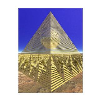 arte de 3D Digitaces - pirámide Impresión De Lienzo