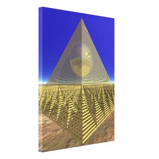 arte de 3D Digitaces - pirámide Impresión En Lienzo Estirada