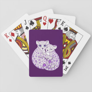 Arte de abrazo de Cubs de la onza Cartas De Póquer