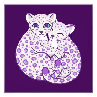Arte de abrazo de Cubs de la onza Fotografía