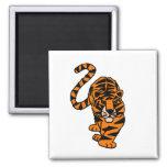 Arte de acecho impresionante del tigre imán para frigorífico