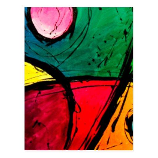 Arte de acrílico abstracto brillante maravilloso tarjetas postales
