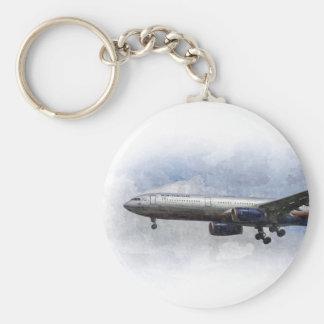 Arte de Aeroflot Airbus A330 Llavero Redondo Tipo Pin