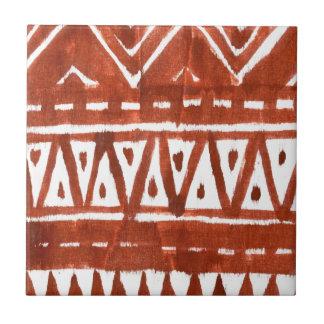 Arte de África Azulejo Cuadrado Pequeño