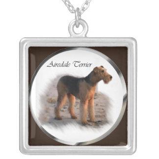 Arte de Airedale Terrier Colgante Cuadrado