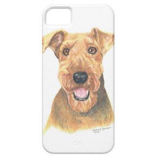 Arte de Airedale Terrier iPhone 5 Funda