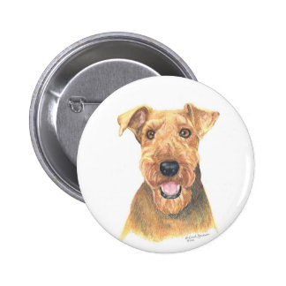 Arte de Airedale Terrier Pin
