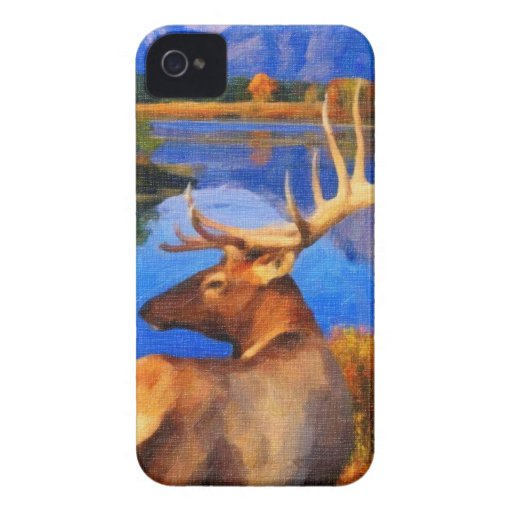 arte de Alaska de los alces Case-Mate iPhone 4 Protector