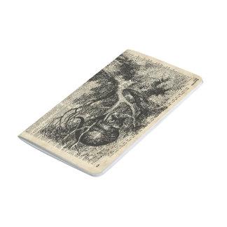 Arte de Alicia y de la plantilla de Cheshire en la Cuaderno