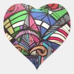 Arte de Anguilu Pegatina En Forma De Corazón