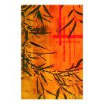 Arte de bambú asiático papeleria personalizada