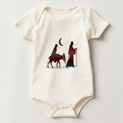 Arte de Belén del navidad Body Para Bebé