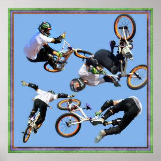 Arte de BMX, Copyright Karen J Williams Póster
