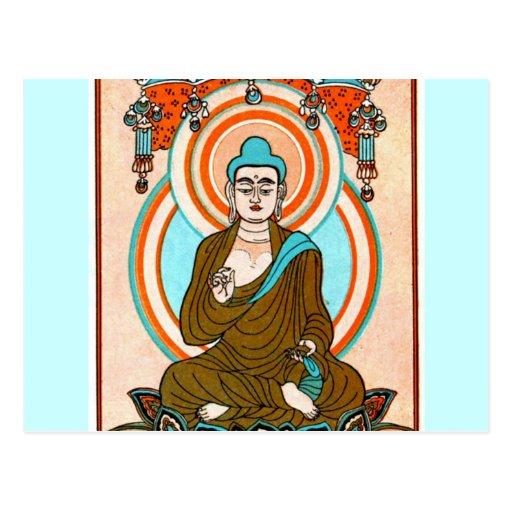 Arte de Buda del vintage Postal