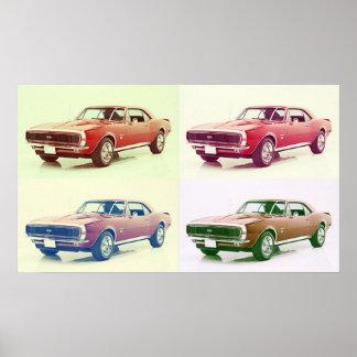 Arte de Camaro del vintage 67 Impresiones