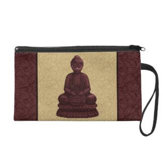 Arte de caoba del pixel de Buda