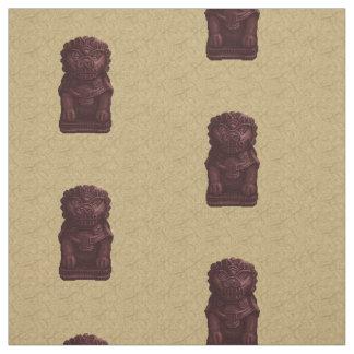 Arte de caoba del pixel del perro del león telas