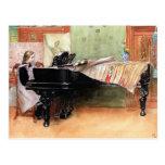 Arte de Carl Larsson: Jugar escalas Tarjeta Postal